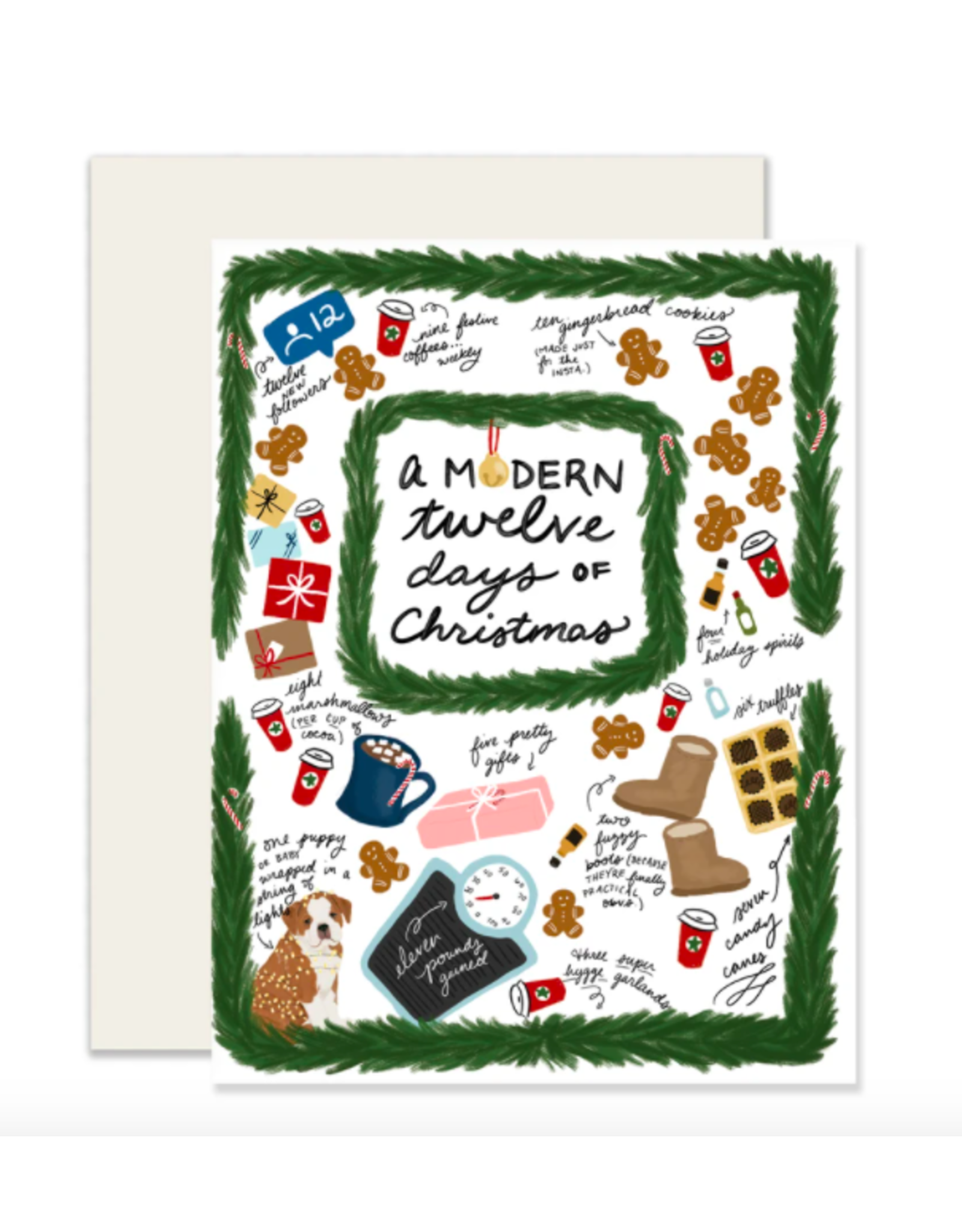 Slightly Stationery Modern 12 Days Card