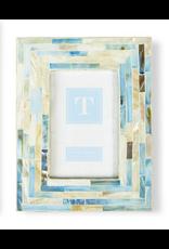 """Decor Shop at Junebug Light Blue and Beige Tiled Frame 4""""x6"""""""