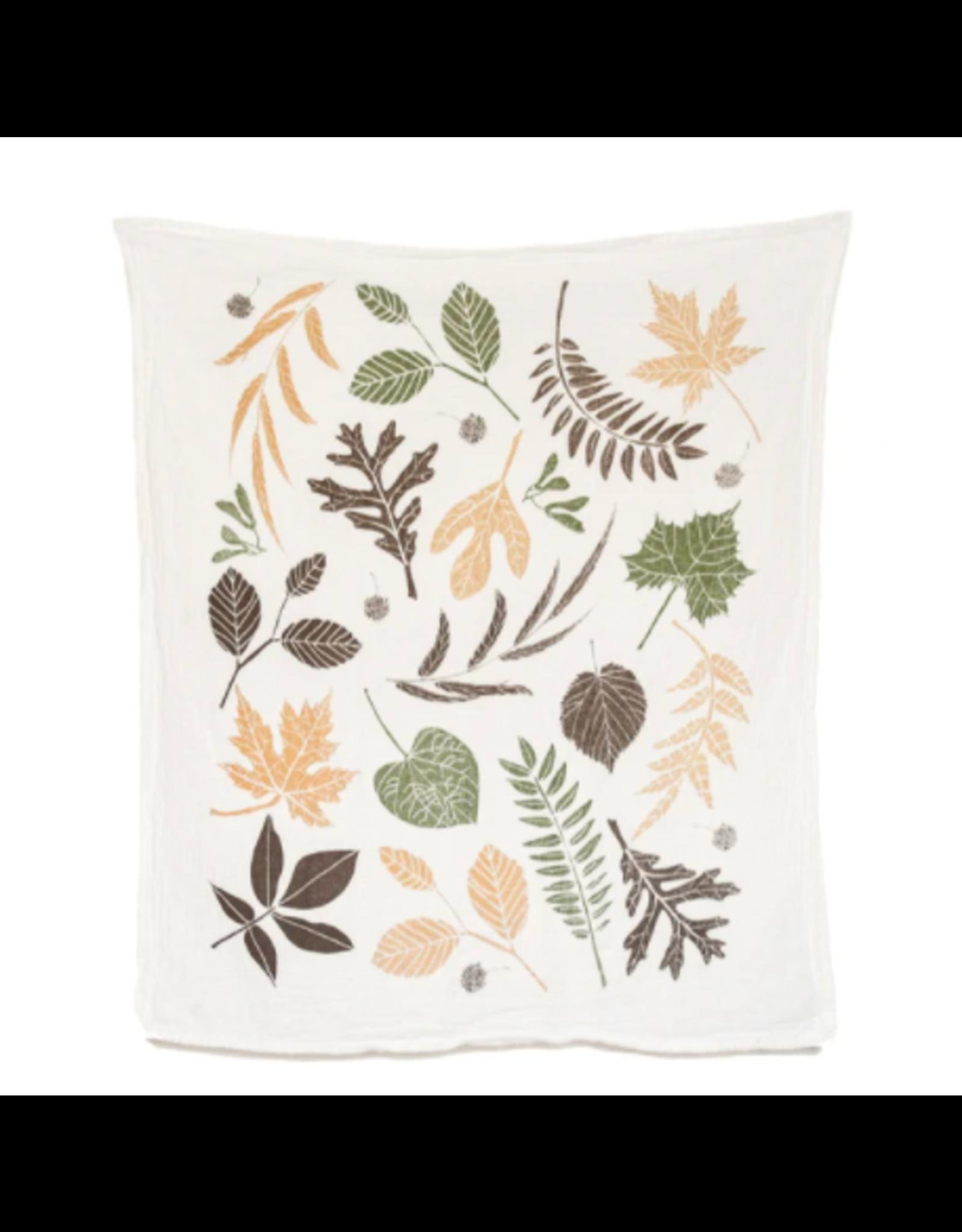 June & December Leaf Pile Kitchen Towel