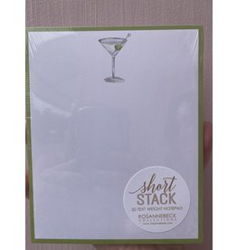 RoseanneBECK Collection Martini with Kiwi Border Short Stack Notepad