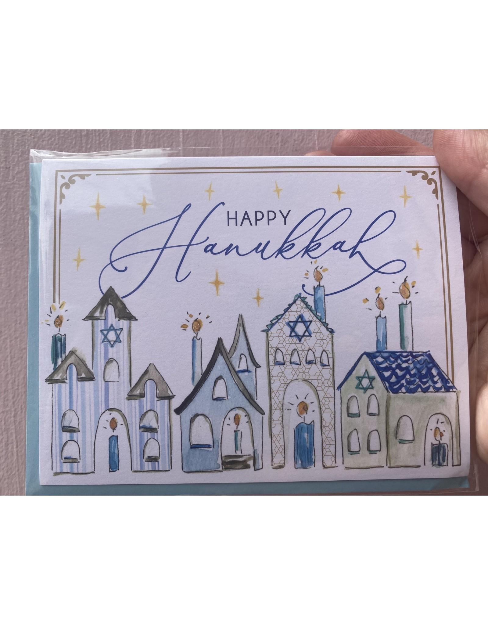 RoseanneBECK Collection Happy Hanukkah Handpainted Homes Card