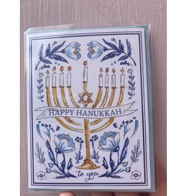 RoseanneBECK Collection Happy Hanukkah Floral Card
