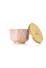 Thymes Heirlum Pumpkin Poured Candle Tin with Gold Lid