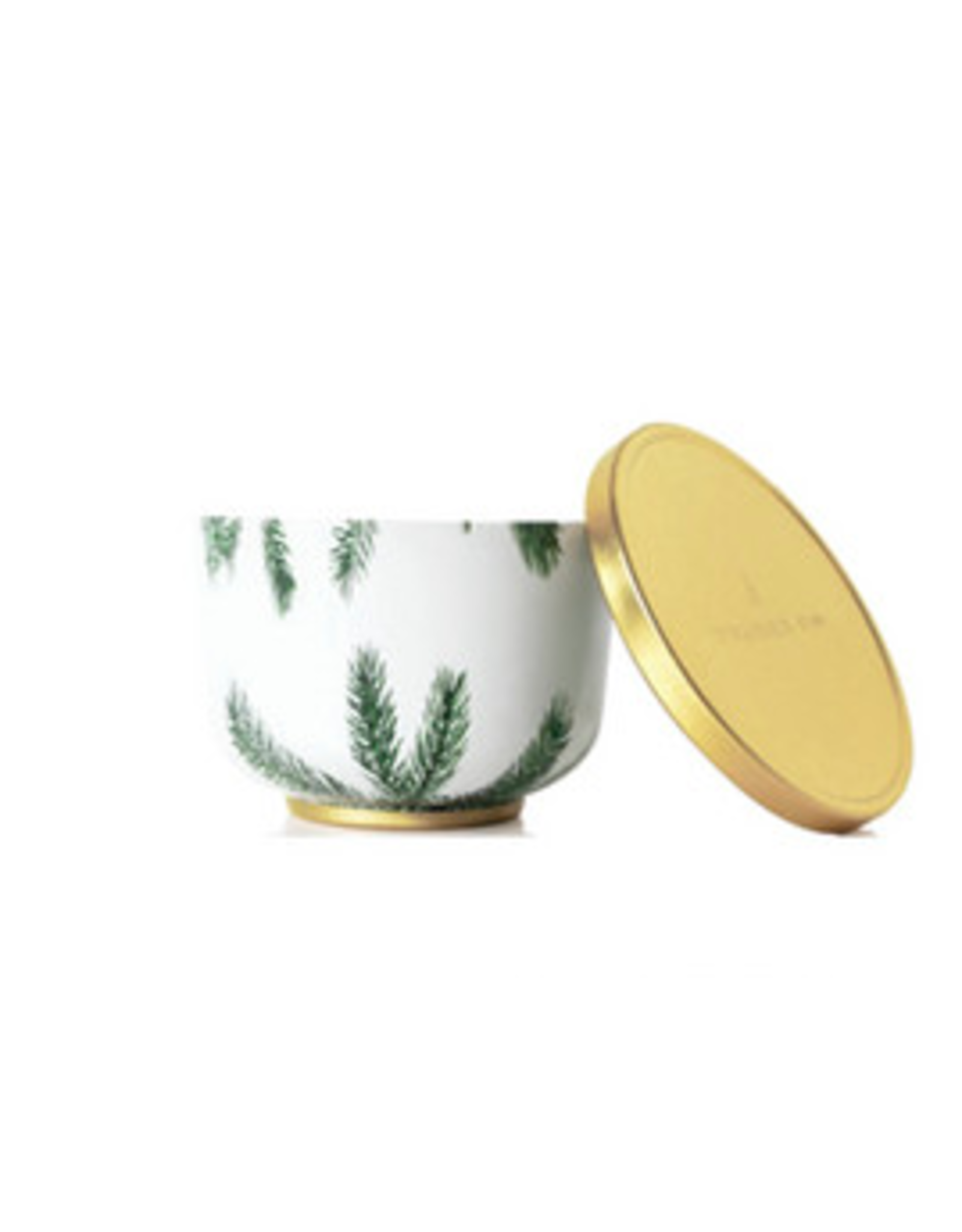 Thymes Frasier Fir Poured Candle Tin with Gold Lid