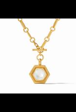 Julie Vos Palladio Statement Necklace in Iridescent Clear Crystal by Julie Vos