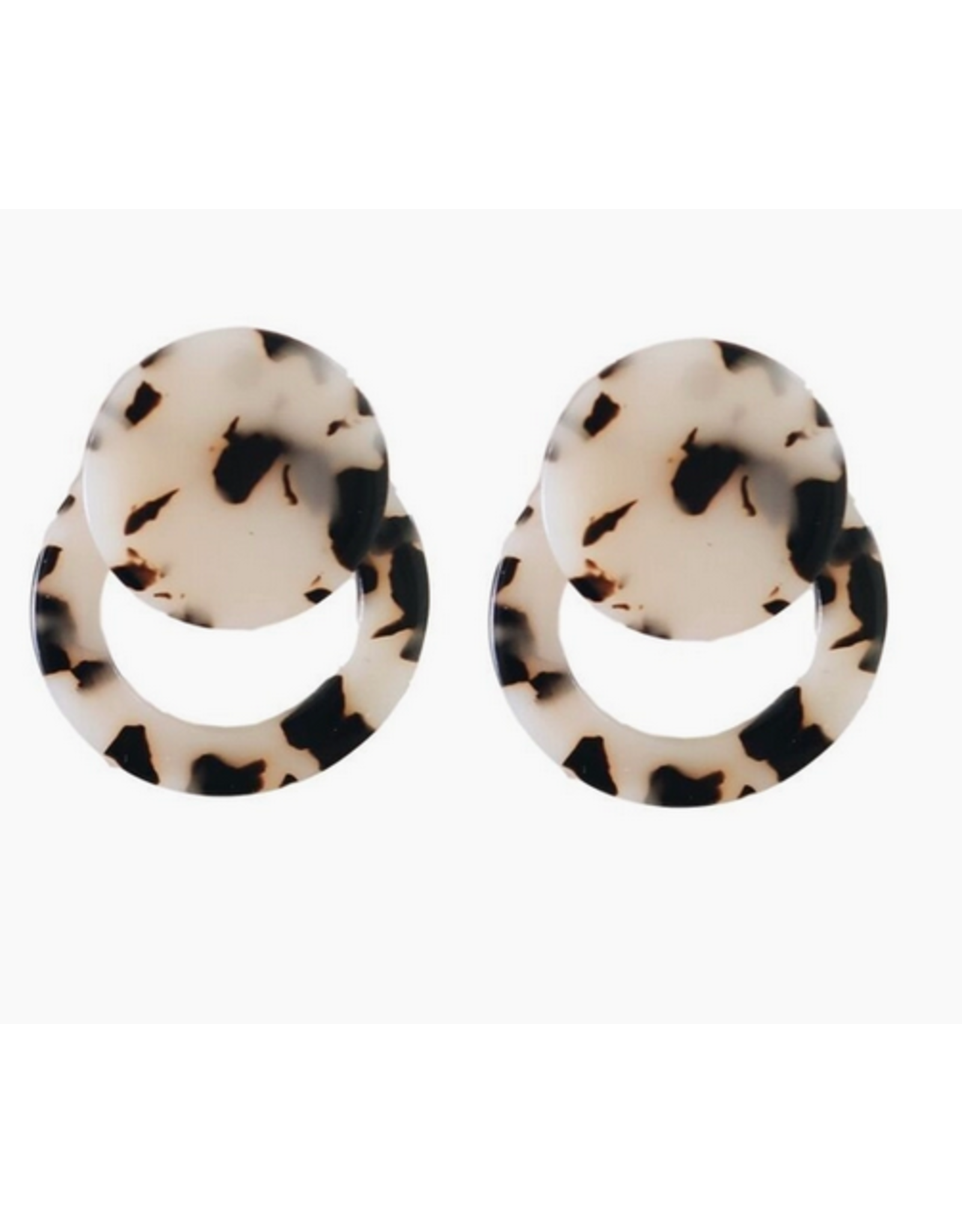 Knightsbridge Doorknocker Blonde Drop Earrings