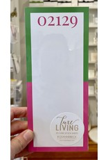 RoseanneBECK Collection 02129 Green and Pink Luxe Skinny Notepad