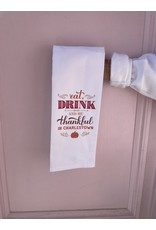 RoseanneBECK Collection Eat, Drink, and Be Thankful in Charlestown Tea Towel