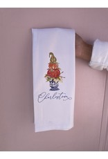 RoseanneBECK Collection Blue and White Pot Fall Charlestown Tea Towel