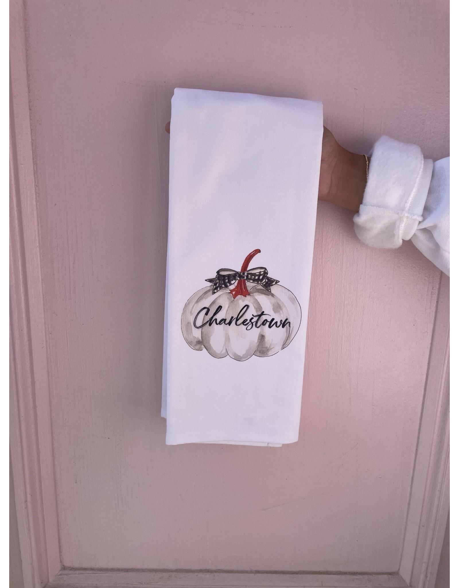 RoseanneBECK Collection White Pumpkin Charlestown Tea Towel