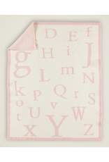 Barefoot Dreams CozyChic ABC Blanket in Dusty Rose