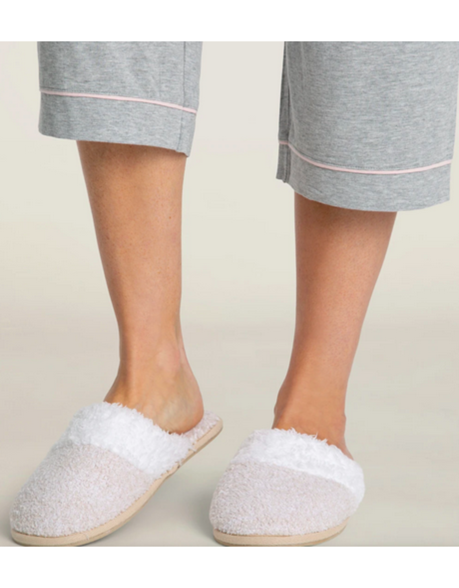 Barefoot Dreams CozyChic Malibu Slippers in Stone M (7/8)