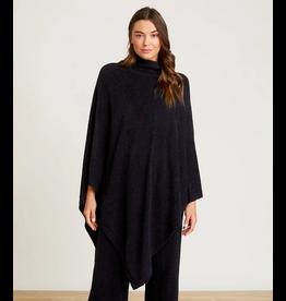 Barefoot Dreams CozyChic Turtleneck Poncho in Black