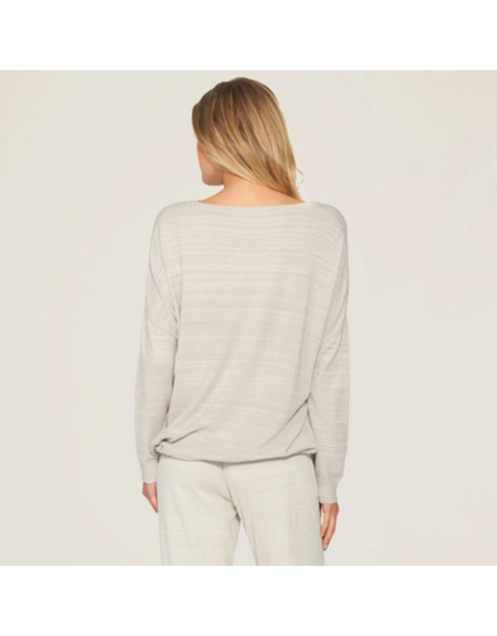 Barefoot Dreams CozyChic Ultra Lite Slouchy Pullover in Fog Gray