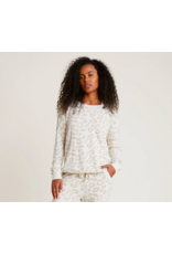 Barefoot Dreams CozyChic Ultra Lite Slouchy Pullover in Cream Stone
