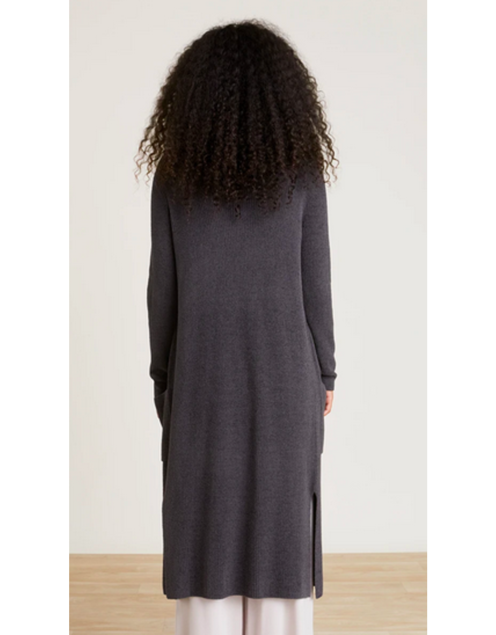 Barefoot Dreams CozyChic Long Cardi in Carbon