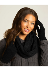 Barefoot Dreams CozyChic Gloves in Black