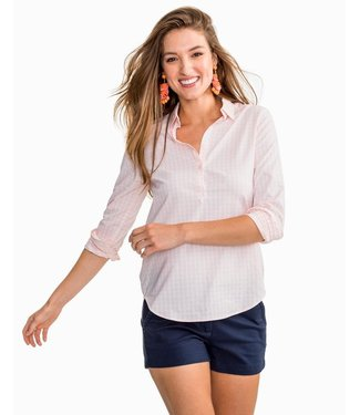 Southern Tide W's Hadley Popover in Gingham