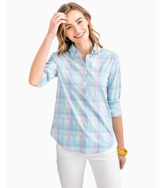 Southern Tide W's Hadley Popover in Club Havana Plaid