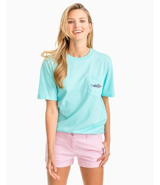 Southern Tide W's Printed Fish SS Graphic T-Shirt