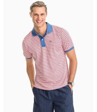 Southern Tide M's SS Skipjack Stripe Performance Pique Polo