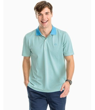Southern Tide M's SS Fort Frederik Stripe Performance Polo
