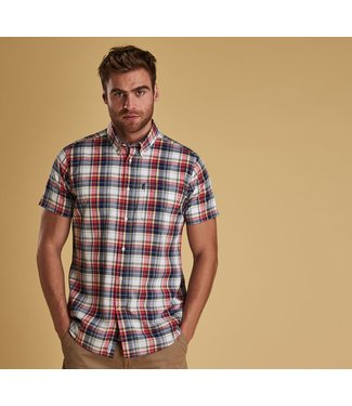 Barbour M's Madras 1 Short Sleeve Tailored Fit
