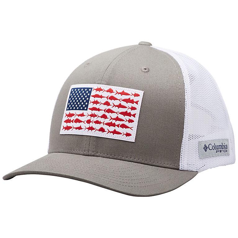 c3a97e54627af0 Columbia Men's PFG Mesh Snap Back™ Fish Flag Ball Cap - Quest Outdoors