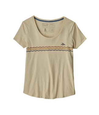Patagonia W's Flying Fish Line Up Organic Scoop T-Shirt