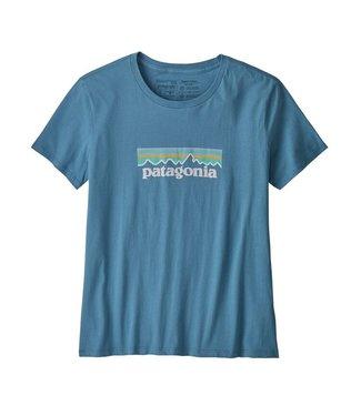 Patagonia W's Pastel P-6 Logo Organic Crew T-Shirt