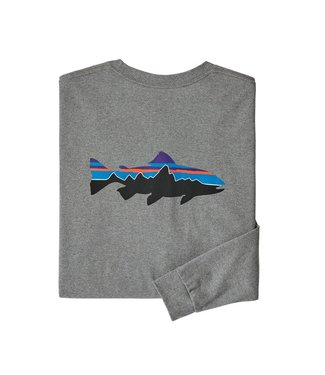 Patagonia M's L/S Fitz Roy Trout Responsibili-Tee