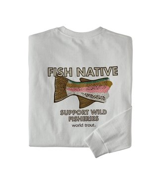 Patagonia M's L/S Fish Native World Trout Responsibili-Tee