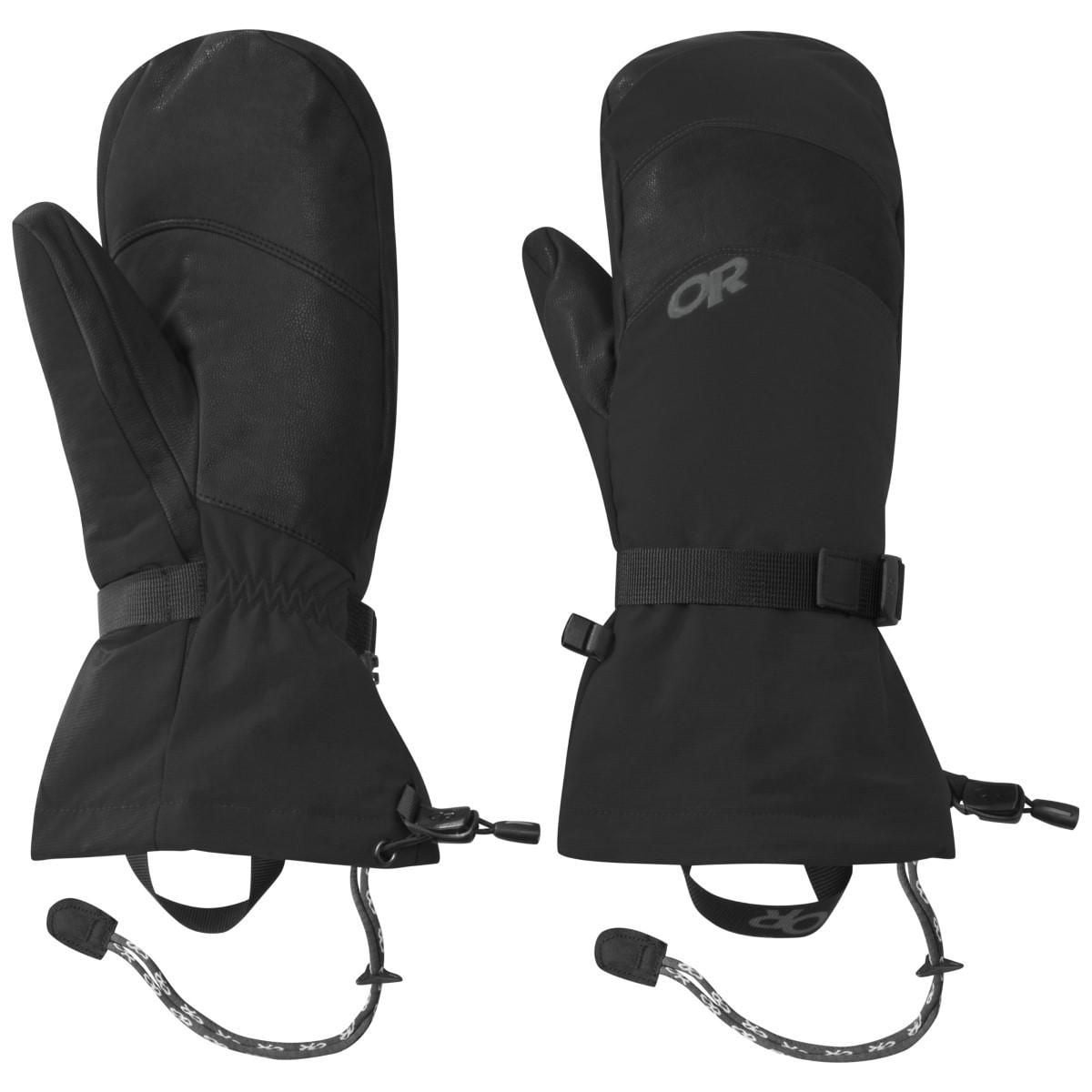 Black XL Outdoor Research Transcendent Down Mitts