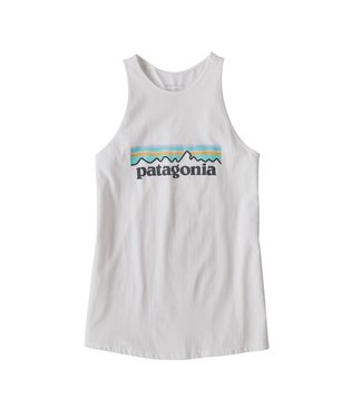 Patagonia W's Pastel P-6 Logo Organic High Neck Tank