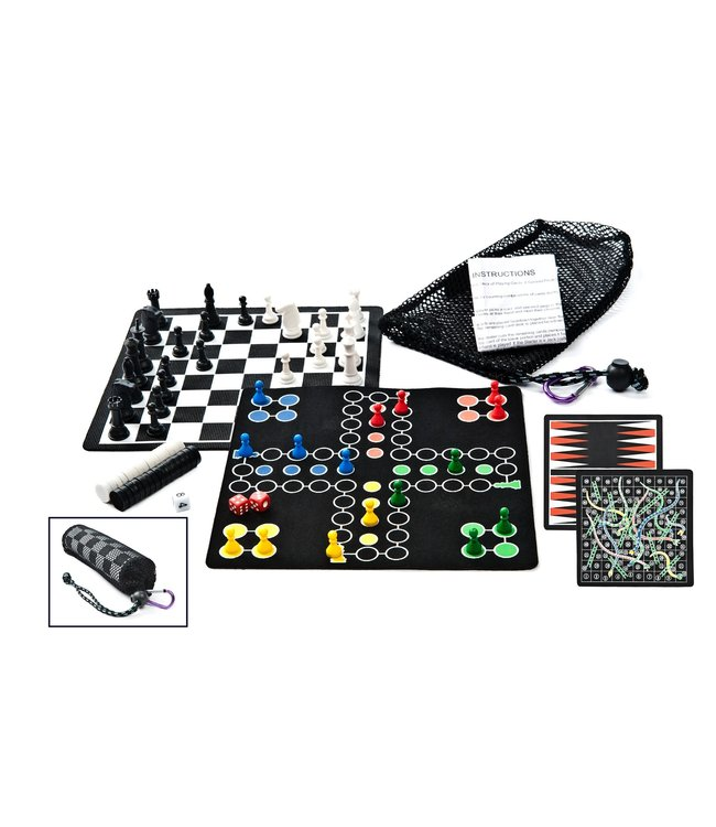 Gsi Outdoors Backpack 5 In 1 Magnetic Game Set
