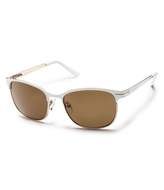 Suncloud Polarized Optics CAUSEWAY WHITE POLARIZED BROWN