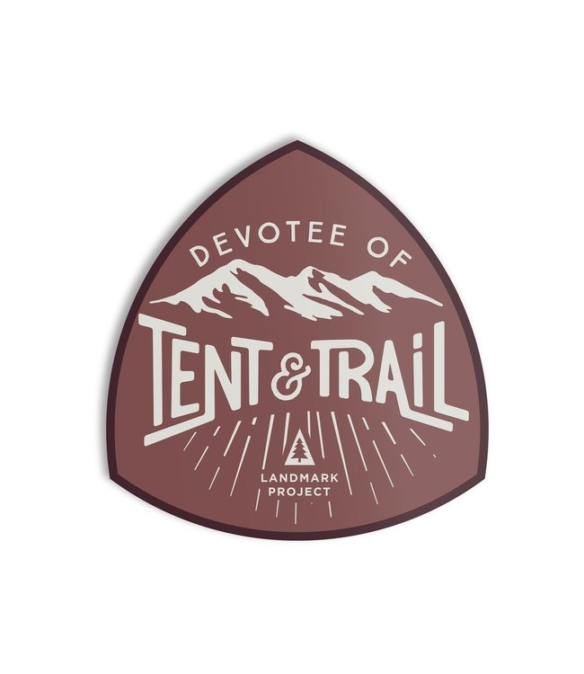 The Landmark Project Devotee of Tent & Trail Sticker
