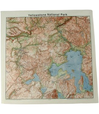 THE PRINTED IMAGE Yellowstone Topo Bandana