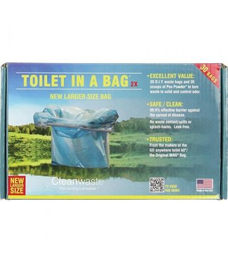 CLEANWASTE Toilet in a Bag 15PK