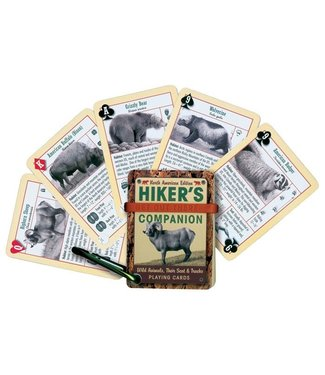 Hikers Playing Cards