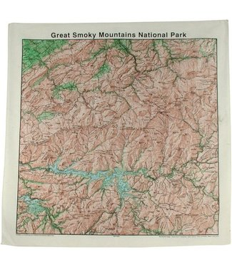 THE PRINTED IMAGE Great Smoky Topo Bandana