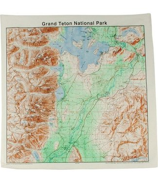 THE PRINTED IMAGE Grand Tetons Topo Bandana