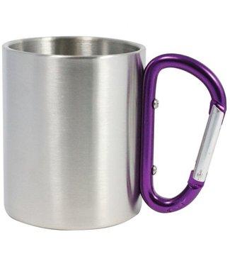 Carabiner Mug- Purple 8oz