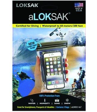 """LokSak LokSak ALOKSak Bag 4x7"""" 2pk"""