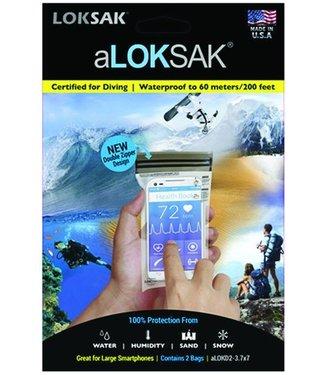 """LokSak LokSak ALOKSak Bag 3.75x7"""" 2PK"""