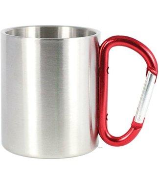 Carabiner Mug- Red 10 OZ.