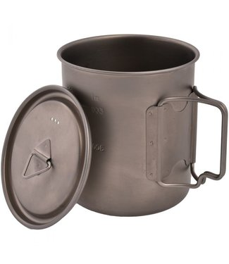 OLICAMP Space Saver Mug with Lid- Titanium