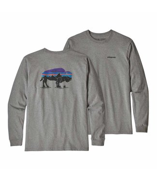 Patagonia M's L/S Fitz Roy Bison Responsibili-Tee