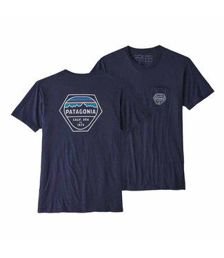 Patagonia M's Fitz Roy Hex Organic Pocket T-Shirt