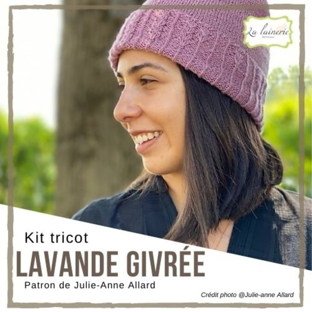 Kit Tuque Lavande Givrée